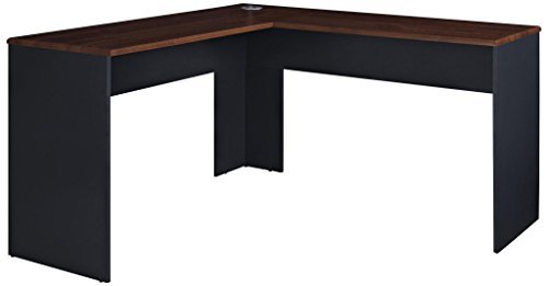 (Ameriwood Home The Works L-Shaped Desk, Cherry )