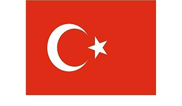 Bandera turquía, turquía, 150 x 90 cm, tejido 100% poliéster ...