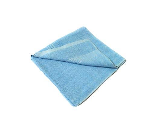 Cotton Colors 400 GSM Cotton Bath Towel   Blue D8