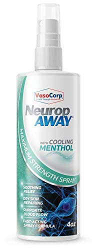 VasoCorp NeuropAWAY Neurop Pain Relief Spray | 4.0 oz with Menthol | Nerve Pain Relief and neurop Pain Relief for feet, neurop Treatment for Burning Numbness Pain in Legs and feet