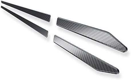 Auto Seitenzierleisten Edelstahl - schwarz - Carbon-Folie - 4-teilig - 5902538870641