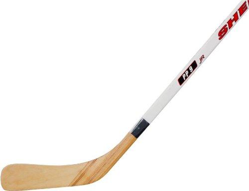Sherwood 5000 White-Royal Blue Youth Wood Hockey Stick