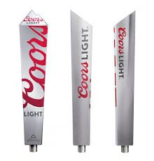 Coors Light Beer Recycled Aluminium Beer Tap Handle Keg ()