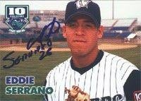 Eddie Serrano Fort Wayne Wizards - Padres Affiliate 2002 Grandstand Autographed Card - Minor League Card. This item comes with a certificate of authenticity from Autograph-Sports. Autographed