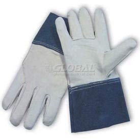 PIP Mig Tig Welder's Gloves, Top Grain Goatskin, Wing Thumb, 4''Length, Leather, S (75-4854/S)
