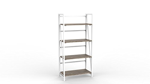 Urban Shop NK657285 Wood Folding Bookshelf, White