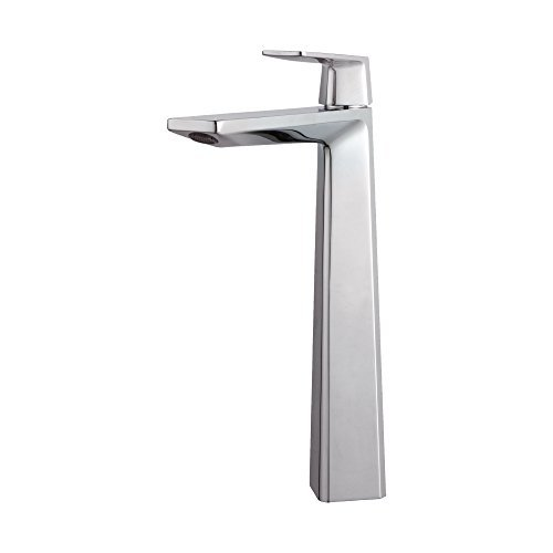 Kraus KEF-15300-Pop Up-10CH Modern Aplos Single Lever Vessel Bathroom Faucet with Matching Pop-up Drain, Chrome by Kraus (Kraus Aplos Faucet compare prices)
