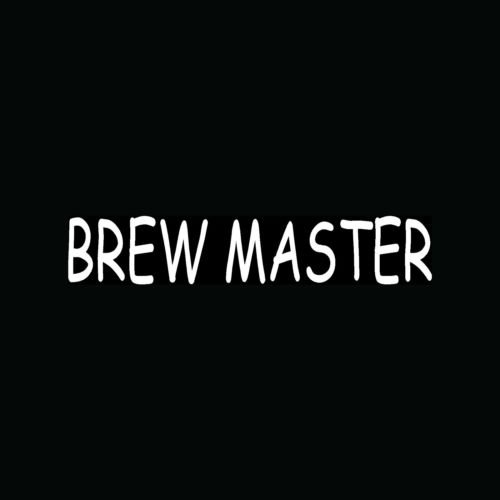BREW MASTER Vinyl Sticker Car Truck Window Decal Beer Home Alcohol Cool Gift :-) - Die cut vinyl decal for windows, cars, trucks, tool boxes, laptops, MacBook - virtually any hard, smooth surface ()