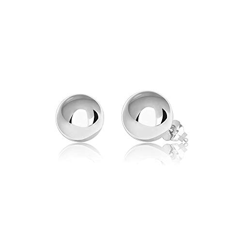 Verona Jewelers Womens Sterling Silver Post Ball Stud Earrings- Bead Ball Stud Earrings for Women 2-12MM (9) (Silver, 8)