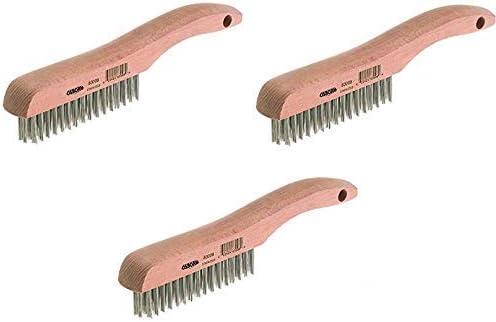 10 Overall Length 0.012 Fill Diameter 1-1//16 Brush Width 5-1//4 Brush Length Osborn International 83008SP Economy Shoe Handle Stainless Steel Wire Scratch Brush