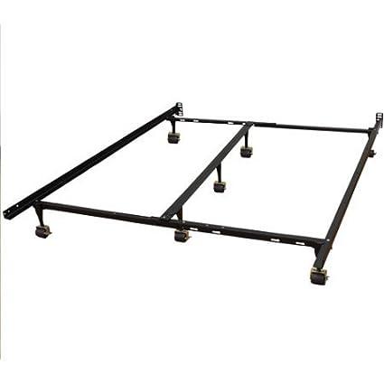 Amazon.com: Modern Sleep Universal Heavy-Duty Adjustable Metal Bed ...