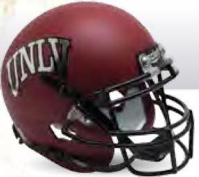 Schutt NCAA UNLV Runnin' Rebels Replica XP Football Helmet, 2015 Red Alt. 1 - Metal Replica Helmet