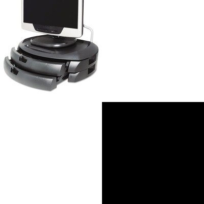 Kantek Adjustable Monitor - KITKTKFR750KTKMS200B - Value Kit - Kantek Premium Adjustable Footrest With Rollers (KTKFR750) and Kantek LCD Monitor Stand with 2 Drawers (KTKMS200B)