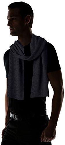 Phenix-Cashmere-Mens-Half-Cardigan-Rib-Knit-Scarf