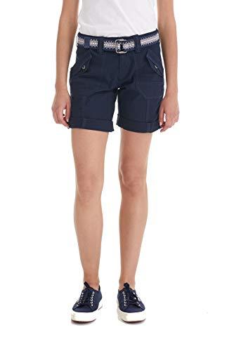 Suko Jeans Womens Convertible Stretch Poplin Bermuda Shorts 47050 Navy 12 ()