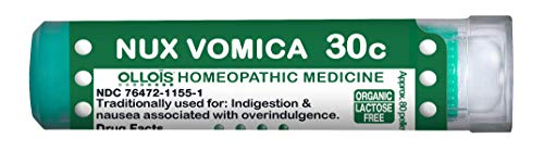 (Ollois Organic Lactose-Free Nux Vomica 30C Pellets, 80Count)