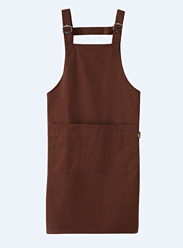 Herasa Professional Flame Retardant Coating Butcher Apron Cross-Back with Pockets-aprons for women (dark (Retardant Apron)