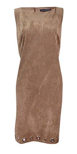Jessica Howard Womens Missy Faux Suede Grommet Wear to Work Dress Brown 14