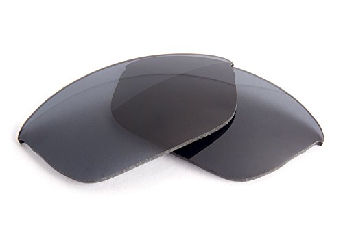 FUSE Grey Polarized Replacement Lenses for Oakley Flak 2.0 (Asian Fit) - 2.0 Fit Lenses Flak Asian Oakley