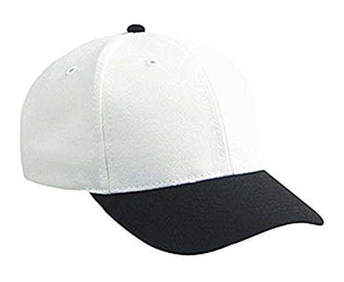 Hats & Caps Shop Wool Blend Low Profile Pro Style Caps - Blk/Wht - By TheTargetBuys (Pro Blend Cap Wool)