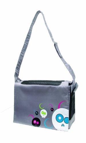 Hagen Dogit Style Nylon Messenger Bag, Da Face Gray