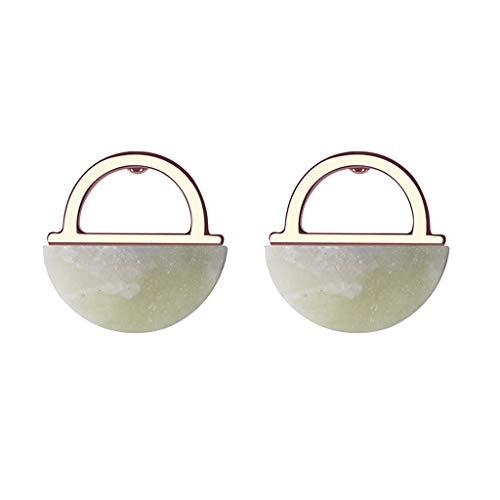 (Jocund Women Korean Version of Simple Solid Color Semi-Precious Stones Earrings)