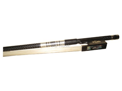 Top Braided Carbon Fiber Violin Bow 4/4, Fluer-de-lys Inlay Ebony Frog by Vio Music (Image #5)