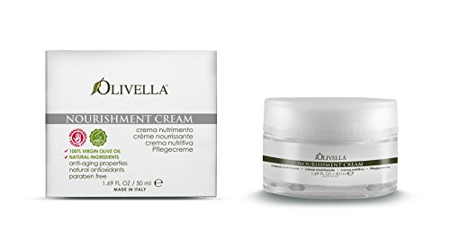OLIVELLA Nourishment Face Cream, Olive, 1.69 Fluid Ounce