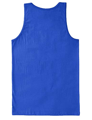 I Got 99 Problems But A Bench Aint One - Gym Men's Tank Top (Royal, Small)