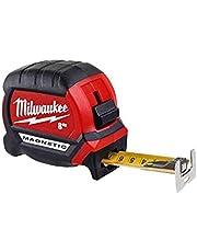Milwaukee premium bandmaat magnetisch 8 meter 48227308, rood/zwart