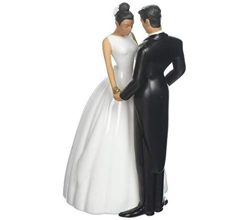 (Premium Jamie Lynn Ty Wilson Cake 5-1/2-Inch Tall Topper Figurine, Hispanic Couple)