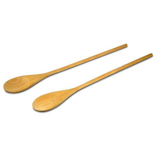 18-Inch Birch Wooden Spoon, Set of 2