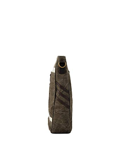Vintage by Purse Leather Work handbag Messenger Shoulder Daphne Trims Trendy Sling Canvas Hobo Travel Design Crossbody q6OTU17