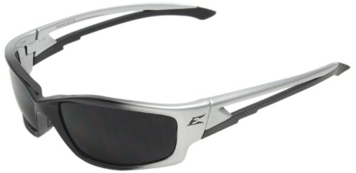Edge Eyewear SK116 Kazbek Safety Glasses, Black with Smoke Lens - Kazbek Polarized Safety Glasses