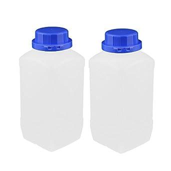 eDealMax 2 PC 1500 ml cuadrados plásticos de Boca ancha química de la muestra Botella reactiva