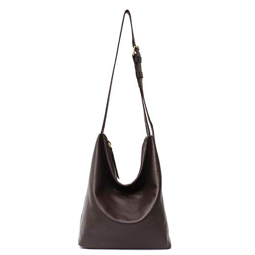 STEPHIECATH Genuine Cow Leather Women s Crossbody Bags Large Fashion Casual  Style Italian Real Leather Handmade Messenger Shoulder Bag Female Hobo ... 1f13f7cbce945