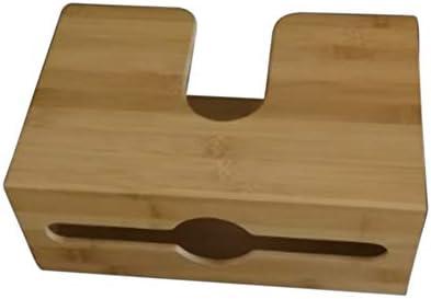 FADDARE Bambus-Papierhandtuchspender, Serviettenhalter für die Wandmontage, Tissue-Box für das mehrfach gefaltete Papierhandtuch für Küchen- und Badezimmerdekor