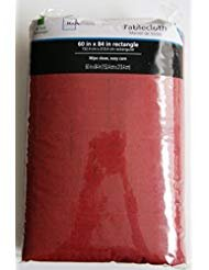 (60x84 Rectangle Red Vinyl Peva Tablecloth Flannel)