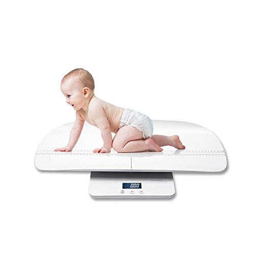 Baby Scale Digital Multi-Function for Baby,Adult with Weight (Max: 220Lbs) and Height Track, Blue Backlight Display Ergonomic Design Separable Grooves HMYH