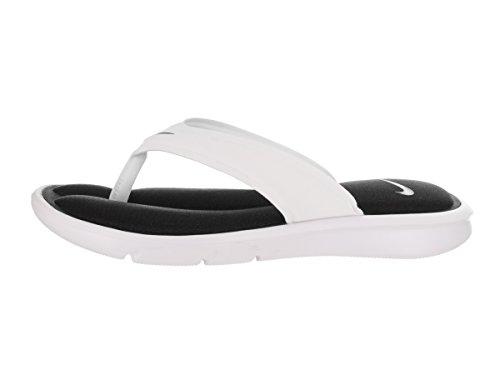 Nike Women's Ultra Comfort Thong White/Black/White Sandal 10 Women US