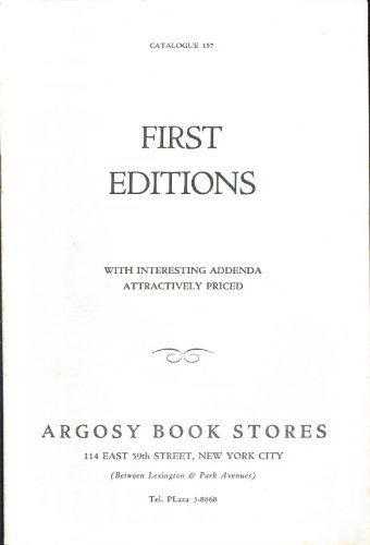 Argosy Book Stores 1st editions catalog - 157 Store The