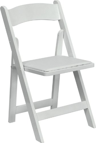 Flash Furniture HERCULES Series White Wood Folding Chair with Vinyl Padded Seat  sc 1 st  Amazon.com & Amazon.com: Flash Furniture HERCULES Series White Wood Folding Chair ...