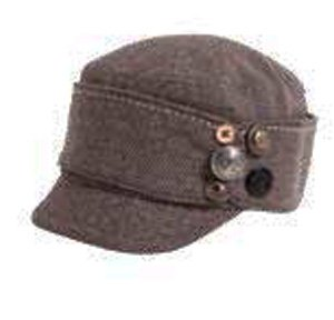 Herringbone with buttons decorate cadet (Brown)