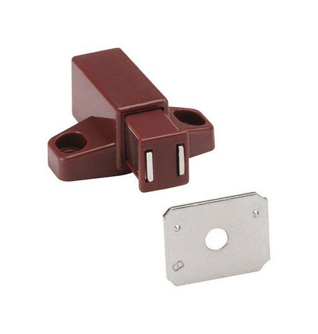 Amerock 1887616 Brown Magnetic Touch Latch - Pack of 2 - Amerock Magnetic Touch Latch