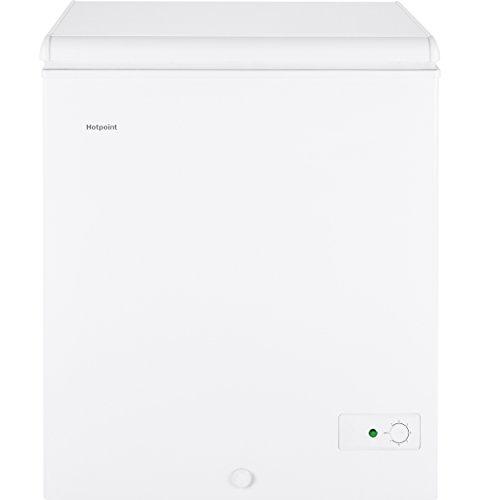 GE HCM5SMWW Chest Freezer, 5.1 Cu Ft, White (Chest Freezer Baskets Ge)