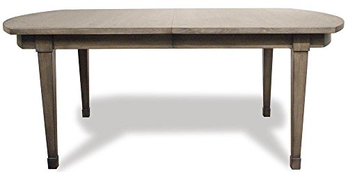 Riverside Dining Furniture - Riverside Furniture Dining Table in Gray Finish with 20 in. Leaf