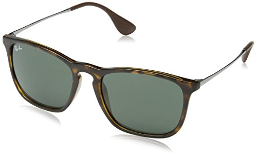 Ray-Ban RB4187 Tortoise Chris Sunglasses with Green Classic Lens, - Ray Ban 4187