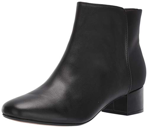 Clarks Women's Chartli Valley Ankle Boot, Black Combi Leather, 100 M US