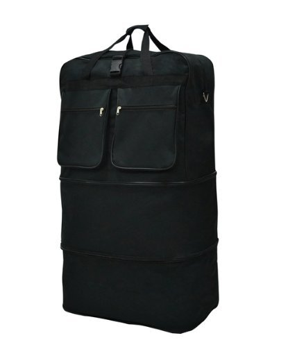 40 Black Rolling Wheeled Duffle Bag Spinner Suitcase Luggage - 5 Wheels