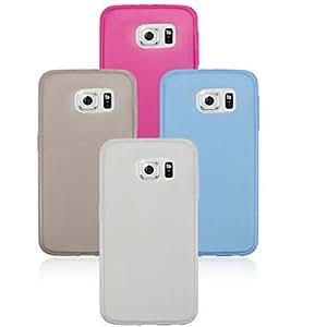 GX Teléfono Móvil Samsung - Cobertor Posterior - Color Sólido/Transparente - para Samsung Samsung Galaxy S6 edge TPU ) , White